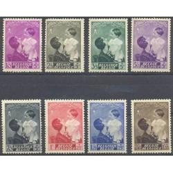 Belgium 1937 n° 447/54** MNH