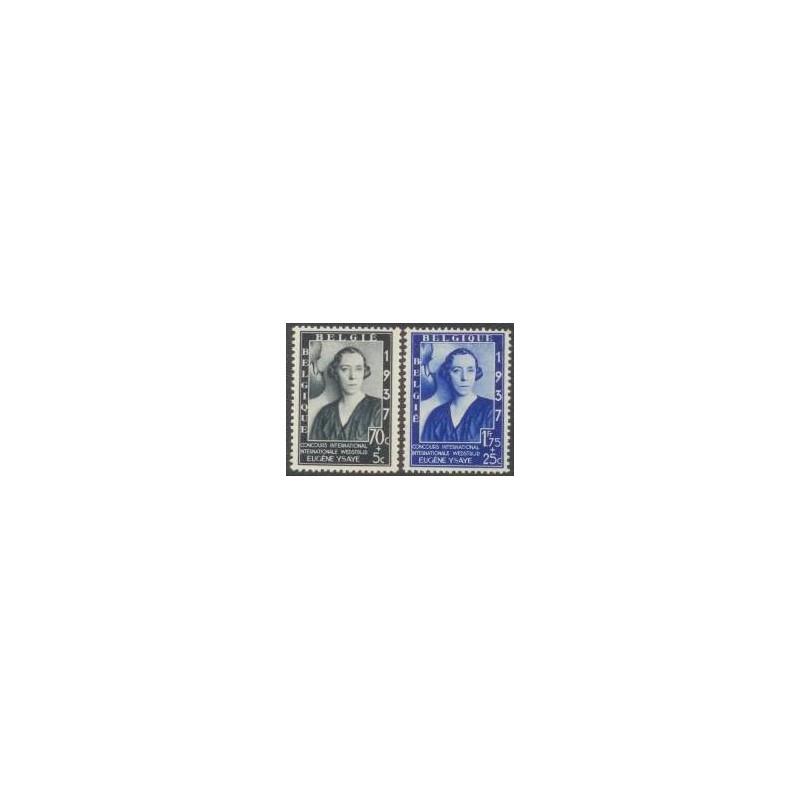 Belgium 1937 n° 456/57** MNH
