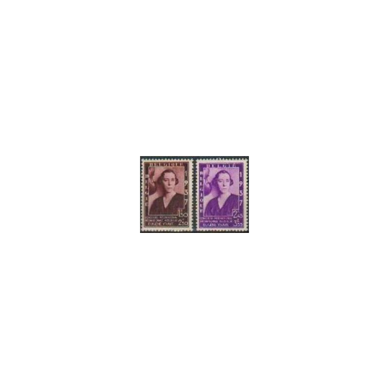 Belgium 1937 n° 457A/57B** MNH