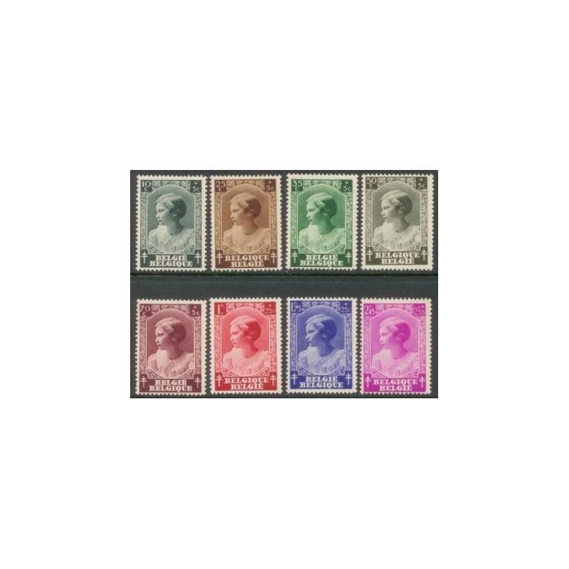 Belgium 1937 n° 458/65** MNH