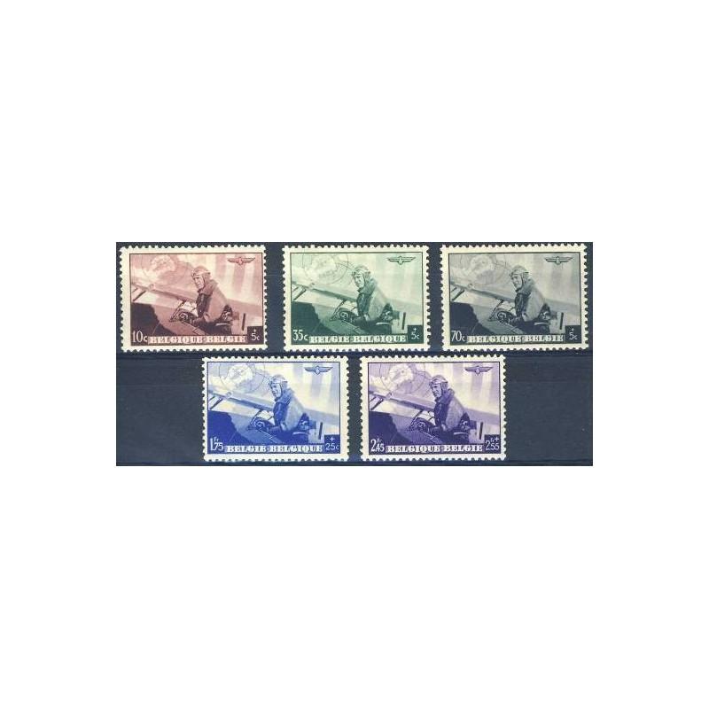 Belgium 1938 n° 466/70** MNH
