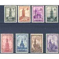 Belgium 1939 n° 519/26** MNH