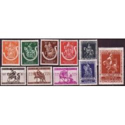 Belgium 1942 n° 603/12** MNH