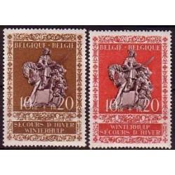 Belgium 1943 n° 613/14** MNH