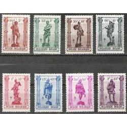 Belgium 1943 n° 615/22** MNH