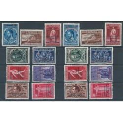 Belgium 1947 n° PA15-23A** MNH