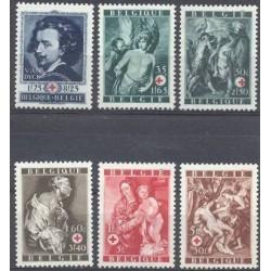 Belgium 1944 n° 647/52** MNH
