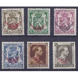 Belgium 1936 n° S20-25** MNH