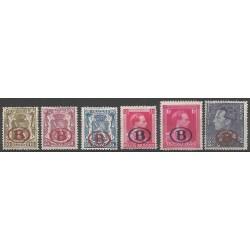 Belgium 1941 n° S26-31** MNH