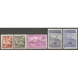 Belgium 1948 n° S42-46** MNH