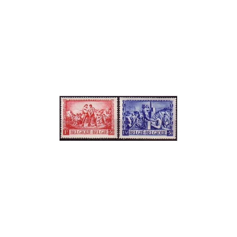 Belgium 1945 n° 697/98** MNH