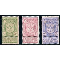Belgium 1894 n° 68-70** MNH