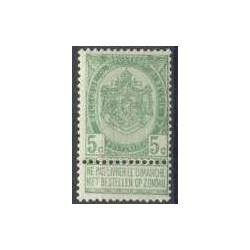 Belgium 1893 n° 56** MNH