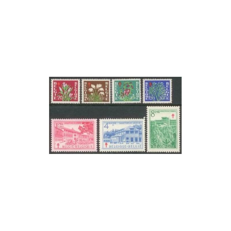 Belgium 1950 n° 834/40** MNH