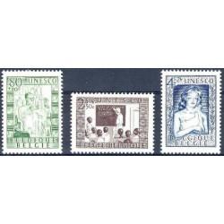 Belgium 1951 n° 842/44** MNH