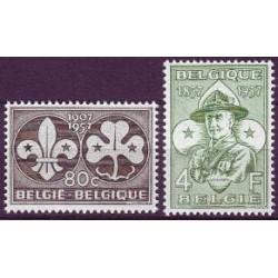 Belgium 1957 n° 1022/23** MNH