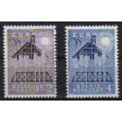 Belgium 1957 n° 1025/26** MNH