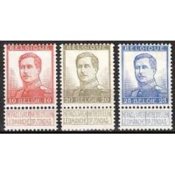 Belgium 1913 n° 123-25 used