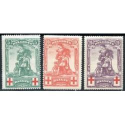 Belgium 1914 n° 126/28 used