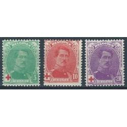 Belgium 1914 n° 129/31 used