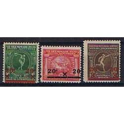 Belgium 1921 n° 184/86 used