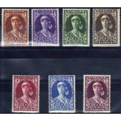Belgium 1931 n° 326/32 used