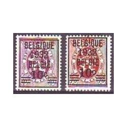 Belgium 1932 n° 333/34 used