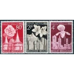 Belgium 1955 n° 961/63 used
