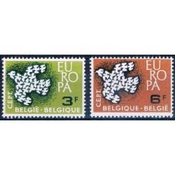 Belgium 1961 n° 1193/94 used