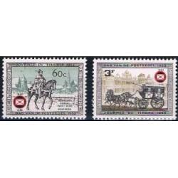 Belgium 1966 n° 1395/96 used
