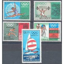 Belgium 1968 n° 1456/60 used