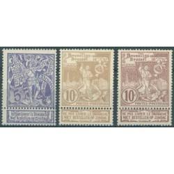 Belgium 1896 n° 71-73 used