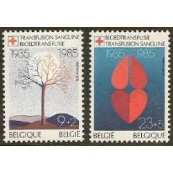Belgium 1985 n° 2161/62 used