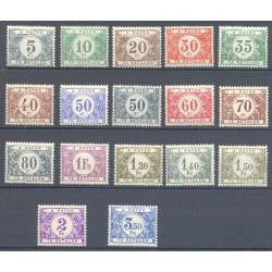 Belgium 1922 n° TX32-48** MNH