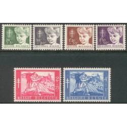 Belgium 1954 n° 955/60 used