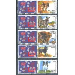 Belgium 2002 n° 3064/68 used