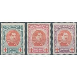 Belgium 1915 n° 132/34 used