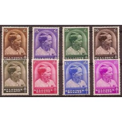 Belgium 1936 n° 438/45 used