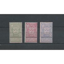 Belgium 1894 n° 68-70 used