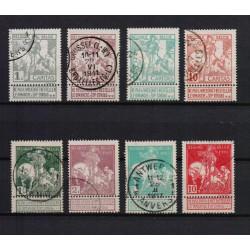 Belgium 1910 n° 84-91 used