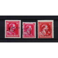 Belgium 1946 n° 724a/24c** MNH