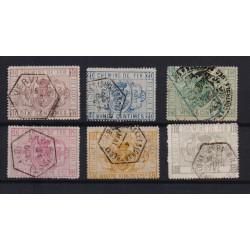 Belgium 1879 n° TR1-6 used
