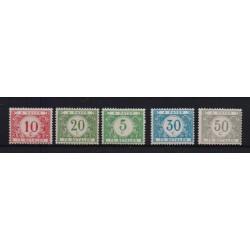 Belgium 1919 n° TX26-31** MNH