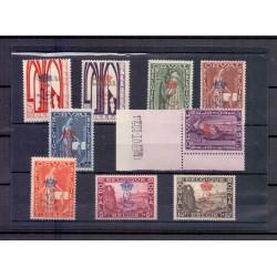 Belgique 1929 n° 272A-72K**...