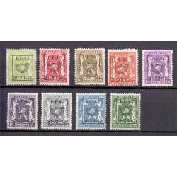 belgium 1942 n° PRE475/483** MNH