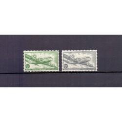 Belgium 1954 n° PA10A-11A**...