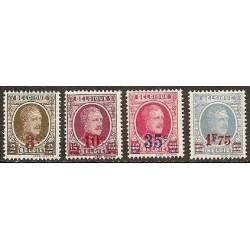 Belgium 1927 n° 245/48** MNH