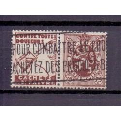 BELGIE 1929 N° PU55 GESTEMPELD