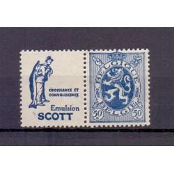 BELGIUM 1929 N° PU37 MNH**