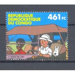 CONGO 2001 N° 2093 TINTIN...